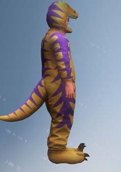 Raptor Ned - right - character model in Saints Row IV