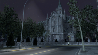 Saints Row demo loading screen - Church