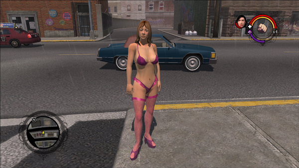 A random Stripper in place of Samantha as a Homie in the Japanese version of Saints Row