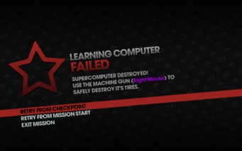 Learning Computer failed - use machine gun