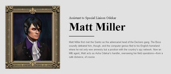 Saints Row website - People - The Cabinet - Matt Miller