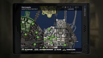 Secret Area - Saints Row Canals on map