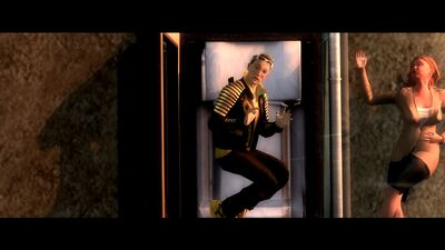Rest in Peace - Requiem cutscene - Shogo Akuji and the body which was dumped out of the coffin