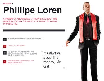 Saints Row website - Gangs - The Morningstar - Phillipe Loren