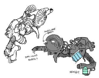 Black Hole Launcher - concept art sketch