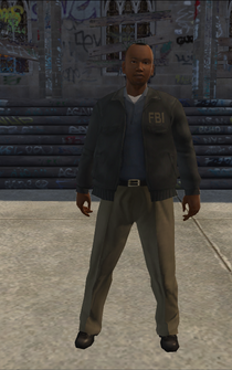 FBI - black - character model in Saints Row