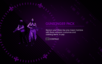 Wild West Pack - Gunslinger Pack unlocked