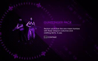 Wild West Pack - Gunslinger Pack unlocked