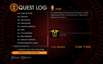 Gat out of Hell Challenge - Complete All Challenges