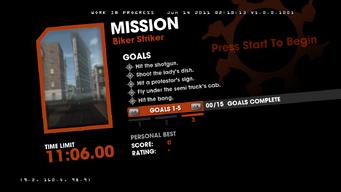 Saints Row Money Shot Mission objectives - Biker Striker - 3 of 3 goals screen