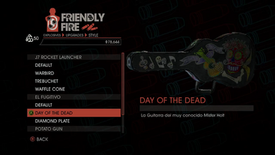 Weapon - Explosives - RPG - El Fugitivo - Day of the Dead
