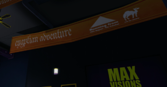Max Visions interior Eyptian Adventure banner