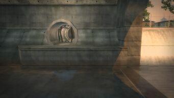 Pyramid - River tunnel entrance
