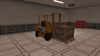 Saints Row variants - Forklift - industrial with crate - front right