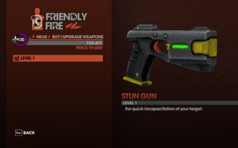 Stun Gun - Level 1 description