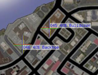 Backhoe and Bulldozer spawning location