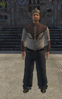 Cowboy - white-jacket - character model in Saints Row