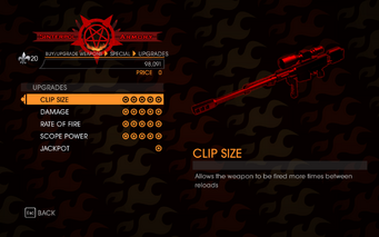 Gat out of Hell - Sniper Rifle - Upgrades