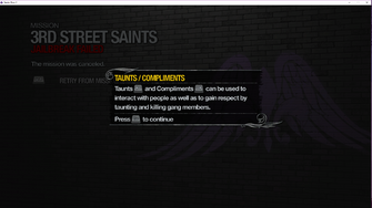 Taunts and Compliments tutorial in Saints Row 2