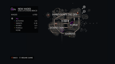 Executioners Brace on map