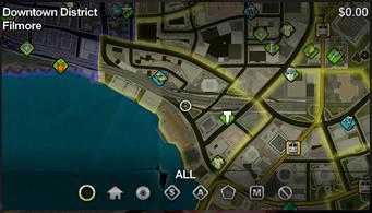 Filmore map in Saints Row