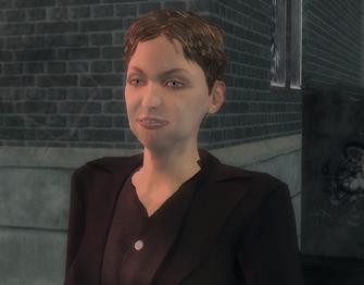 Monica Hughes in Mayhem cutscene in Saints Row 2