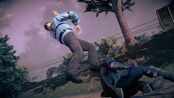 Combat - rear running attack in Saints Row IV - end