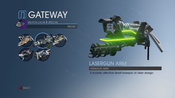 Lasergun Arm alterate icon in Weapon Cache