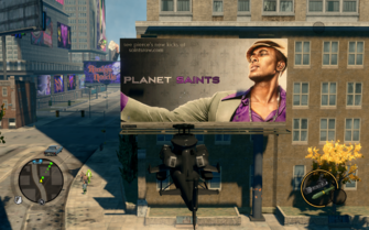 Planet Saints Pierce billboard location