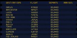 Airport Screen flights co