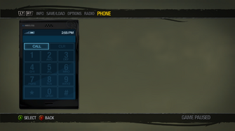 Cellphone - Dial Menu - Saints Row 2