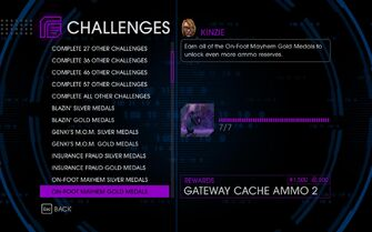 Challenge 17 On-Foot Mayhem Gold Medals