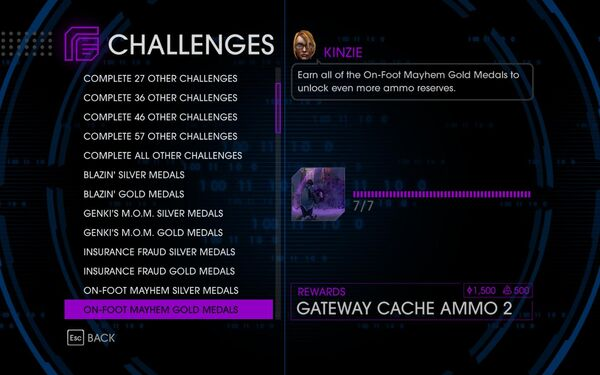 Challenge 17 On-Foot Mayhem Gold Medals
