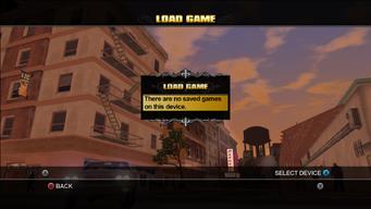 Load Game - no saved games