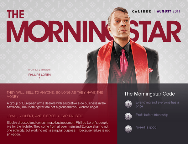 Saints Row website - Gangs - The Morningstar - intro