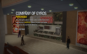 Company of Gyros in Rounds Square Shopping Center purchased in Saints Row 2