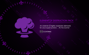 Element of Destruction Pack unlocked