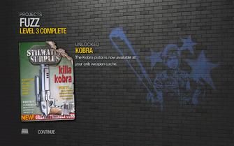 Kobra unlocked by FUZZ level 3 in Saints Row 2