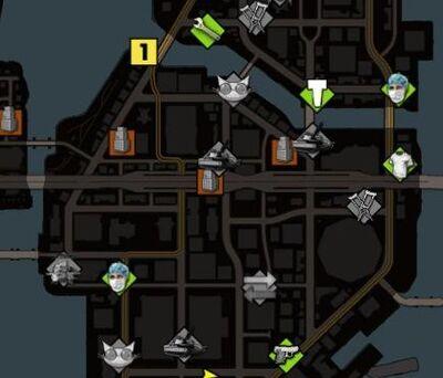 Police Shark's location map