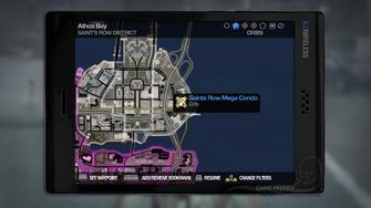 Saints Row Mega Condo - map marker