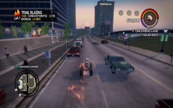 Trail Blazing checkpoint seconds earned in Saints Row 2