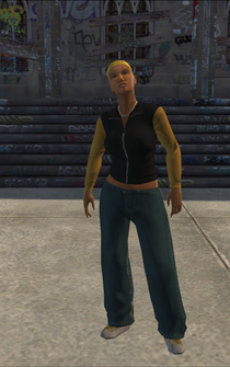 Vice Kings female Thug1-01 - black - character model in Saints Row