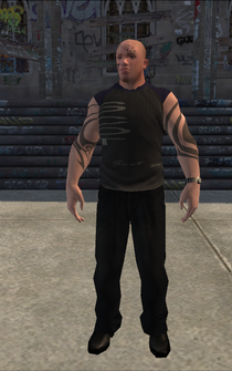 Bouncer - White Tattoo - character model in Saints Row