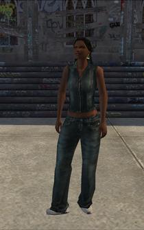 Generic black female - bk2 - character model in Saints Row