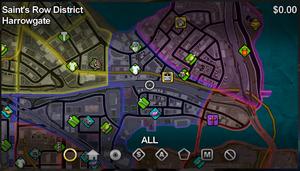 Harrowgate map in Saints Row