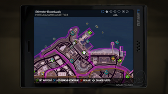 Hotels & Marina map in Saints Row 2