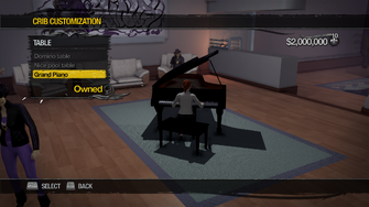 Penthouse Loft - Crib Customization - Table - Grand Piano