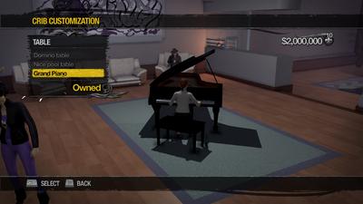 Penthouse Loft - Crib Customization - Table - Grand Piano