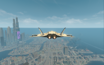 F-69 VTOL - jet mode - rear in Saints Row The Third