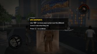 GPS Waypoint move cursor tutorial in Saints Row 2